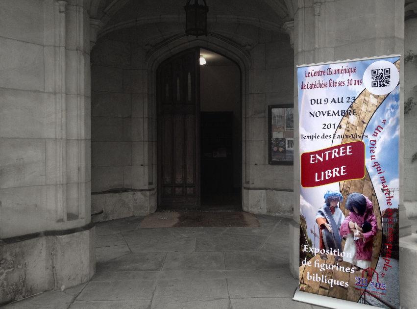 ▲ Exposition des figurines bibliques au temple des Eaux-Vives jusqu'au 23 novembre 2014, à l'occasion des 30ans du COEC . | © Ntsoa de Genève / COEC